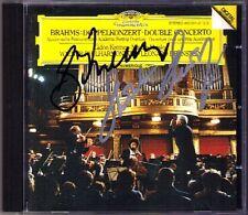 Gidon KREMER & Mischa MAISKY Signiert BRAHMS Double Concerto BERNSTEIN CD 1983