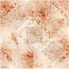 Feuille en papier de riz/Ecriture/Stamperia/DFT093