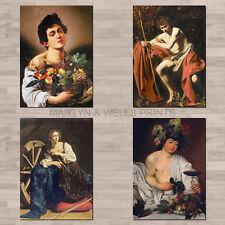 Caravaggio A4 canvas paper / poster prints.