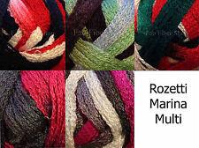 Rozetti Marina Multi 100g  Ruffle Scarf Yarn Knit Crochet FS Color Choice
