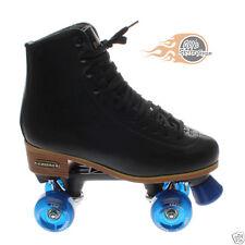 Boston ii en cuir noir quad patins à roulettes-ventro roues toutes les couleurs