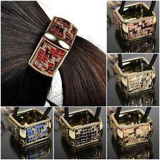 I capelli in gomma a Maglia Motivo quadrato GLITTER trecce capelli Scrunchy Anello HAIR rettangolare