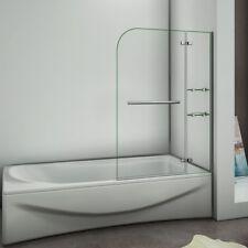 90/100/120cm Badewannenaufsatz Duschabtrennung Echtglas Duschwand Duschkabine