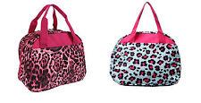 Cheetah Leopard Animal Print Girls Insulated School Work Lunch Box Bag Pink Blue