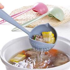 2en 1cuchara sopera mango largo cucharas con filtro vajilla cocina herramientaVP