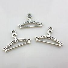 28/250pcs Clothes hanger Charms Bails Pendants 24x17mm Tibetan Silver Findings
