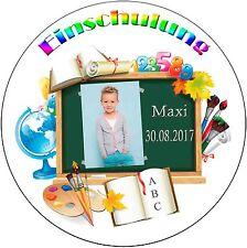 Tortenaufleger Einschulung Schulanfang mit Schultüte mit Text und Bild (03)