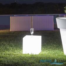 LAMPADA RESINA MADE IN ITALY MODERNO QUADRATO GIARDINO LUCE LED LUMINOSO ESTERNO