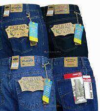 Jeans uomo pantaloni 5 tasche regular fit cotone denim pesante tg 46/64