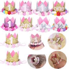 Baby Girl Boy Birthday Flower Tiara Headband Party Cake Smash Hair Band Accessor