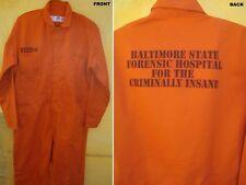 Hannibal Lecter Orange Baltimore Prison Jumpsuit Halloween Costume Top Quality