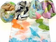 Schal Tuch mit Schmetterling Motive ca.180 x 50 cm.NEU 100% Viskose