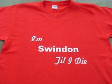 Swindon Town T-shirts et sweat shirts Inc 4XL & 5XL Personnalisé Cadeau De Noël