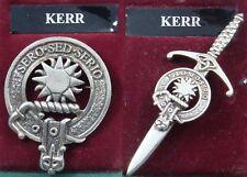 Badge Or Kilt Pin Kerr Scottish Clan Crest Pewter