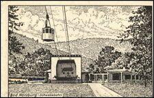BAD HARZBURG ~1930/40 Schwebebahn Künstlerkarte