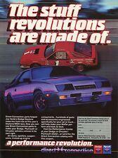 1984 Dodge Daytona Direct Connection Ad w/ Joe Varde's IMSA Race Car
