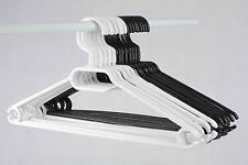 Kunststoff Kleiderbügel Schwarz Weiß Wäschebügel Bügel Drehbar W5