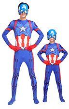 Simile Capitan America Vestito Costume Carnevale Bambino Uomo Cosplay CAPMK01