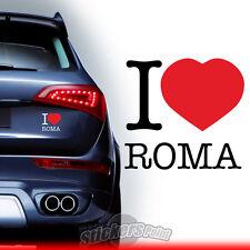 adesivo I LOVE ROMA stickers PVC auto squadre calcio serie A