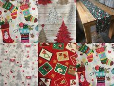 Navidad Caminos De Mesa Doble Cara-un diseño diferente en cada lado! único