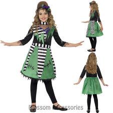CK868 Frankie Stein Child Girl Monster High Costume Halloween Fancy Dress Up