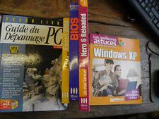 lot de 5 livres sur informatique,windows xp excel 2000