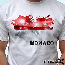 Monaco flag - white t shirt top country design - mens womens kids & baby sizes