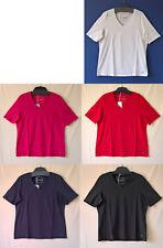 Samoon Shirt by Gerry Weber Neu 100% Bio-Baumwolle TShirt V-Ausschnitt Damen Gr.