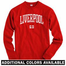 Liverpool Long Sleeve T-shirt - England UK EUFA FC Everton GB - LS - Men / Youth