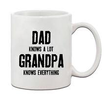 Dad Knows A Lot Grandpa Knows Everything Ceramic Coffee Tea Mug Cup