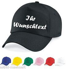 Baseball Cap - Mütze - IHRE WUNSCH BESCHRIFTUNG - verschiedene Farben - Neu -
