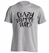 Crazy drummer Dude t-shirt drum sticks beat music lyrics play bongos 4029