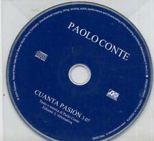 PAOLO CONTE raro Cd single PROMO 1 traccia CUANTA PASION nuovo SEALED