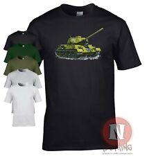 Russian T34-85 medium tank t-shirt WW2 Allied military armour World Tanks armor