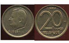 BELGIQUE  20 francs  1994  ( belgique)