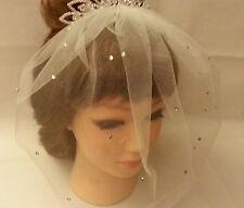 Birdcage veil wTiara Tulle birdcage veil/blusher veil. white,ivory wedding veil