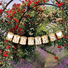 Custom Mr & Mrs Bunting Banners Card Photo Prop - Wedding Venue Decoration
