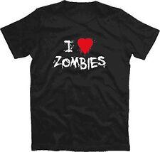 I LOVE ZOMBIES T-Shirt  S-XXXL