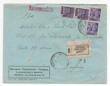 1945 ITALY RSI 50Cx2+COPPIA 1L RACCOMANDATA FIRMA RAY
