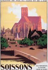 Affiche chemin de fer Nord et Est - Soissons