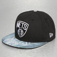 A37 NEW ERA OFFICIAL NBA BROOKLYN NETS Black Sketch Baseball Cap * Var Sizes