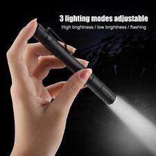 Mini LED Flashlight Pocket Clip Penlight Tactical Survival Camping Torch Lamps