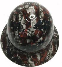 Custom Hard Hat Ridgeline Full Brim Alerican Flag Insanity Skulls