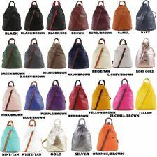 Women Girls VERA PELLE DESIGNER Rucksack Real Soft Italian Leather Backpack Bag