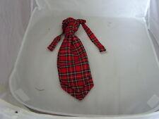 TARTAN Royal Red Stewart Polyester Boys Ruche-Tie Cravat >More U Buy>More U Save