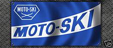 VINTAGE SNOWMOBILE MOTO-SKI MOTOSKI GARAGE BANNER