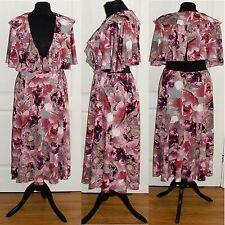 Asos pink und grau Iris Soft Midi Kleid 10,12, 14, 16 RRP £ 50