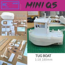 Diy 1:18 180mm Q5 Mini Tugboat Rescue simulation Rc Abs Rc model kit