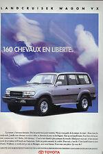 PUBLICITE ADVERTISING 1993 TOYOTA land cruiser WAGON VX