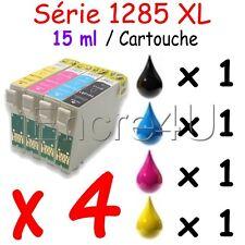 Lot de 4 cartouches non OEM Epson - Encres compatibles T1285 1285 TO1285 T01285